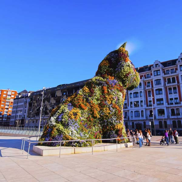 The Giant Floral Sculpture Puppy in Bilbao