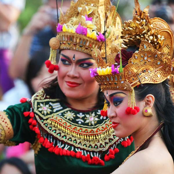 Traditional Balinese Kecuk and Fire Dance